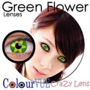ColourVue Crazy Green Flower Lens