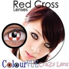 ColourVue Crazy Red Cross Lens