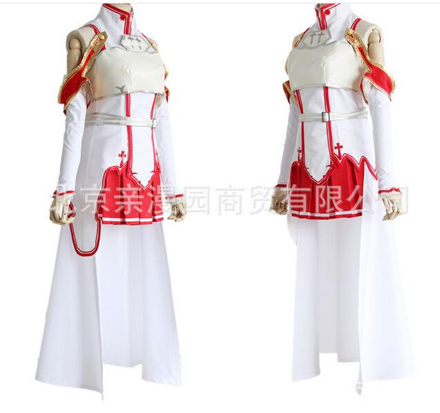 Asuna Sword Art Online high quality dress Cosplay Costume Free shipping