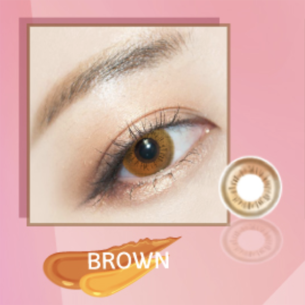 i.Fairy Gradation Brown Lens