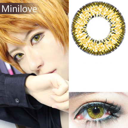 Minilove Nudy Gold Contact Lenses