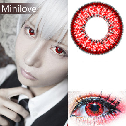 Minilove Nudy Red Contact Lenses