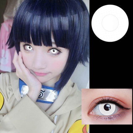 White Contact Lenses (Colourvue Crazy Whiteout)