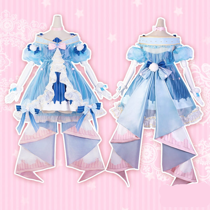 Hatsune Miku  Winter Snow VOCALOID halloween Cosplay  costume for female