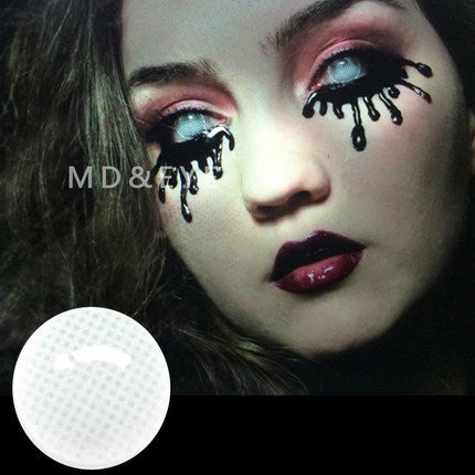 White Mesh Contact Lenses
