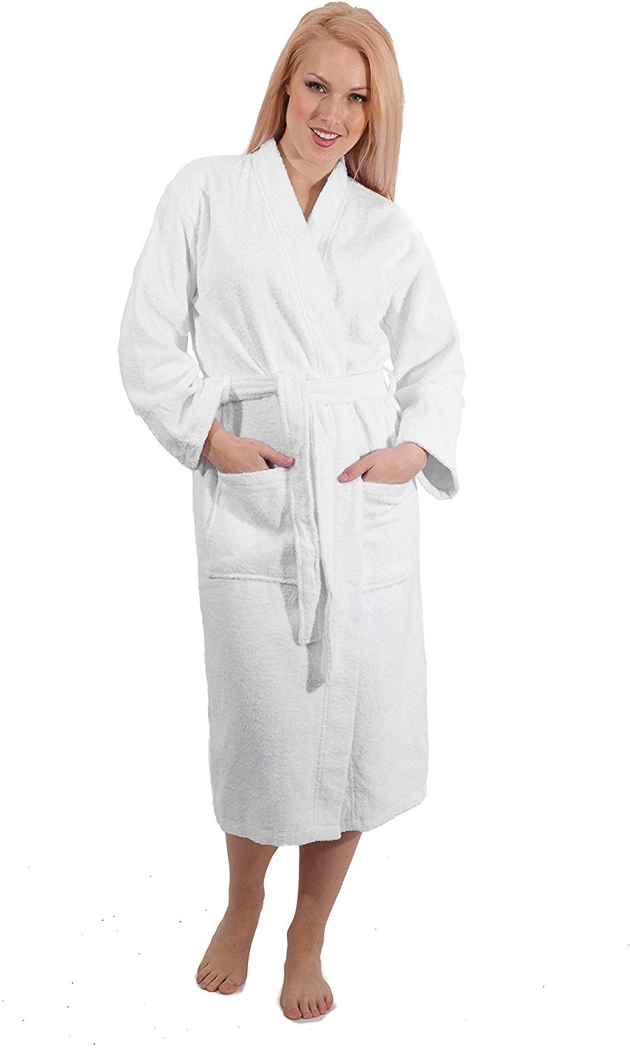 SALBAKOS Kimono Robes - 100% Turkish Cotton - with and Without Hood Options