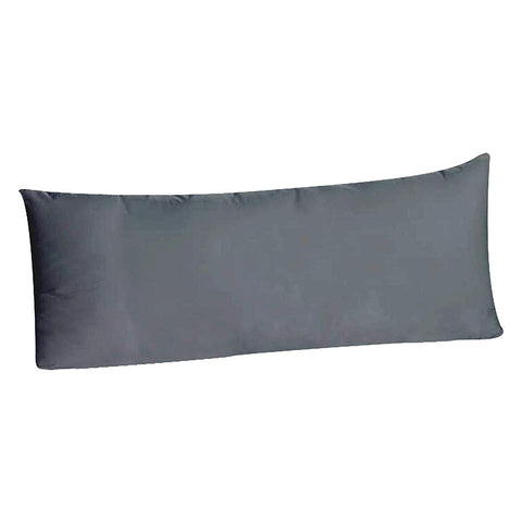 Body Pillowcase Pillow Cover 20 x 54, 100% Brushed Microfiber, Body Pillow Cover, (Envelope Closure, Gray)