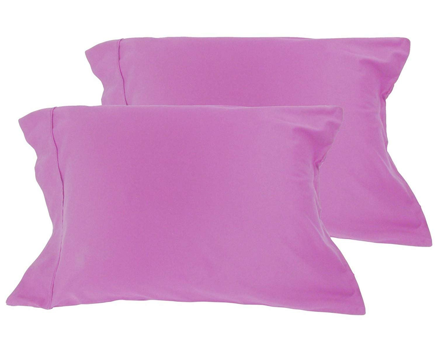 American Pillowcase 100% Cotton, High Thread Count, Luxury Set of Pillow Cases, Z-Style Hem Stitch, King 21x40 (fits 20x36 Pillow) - Lilac