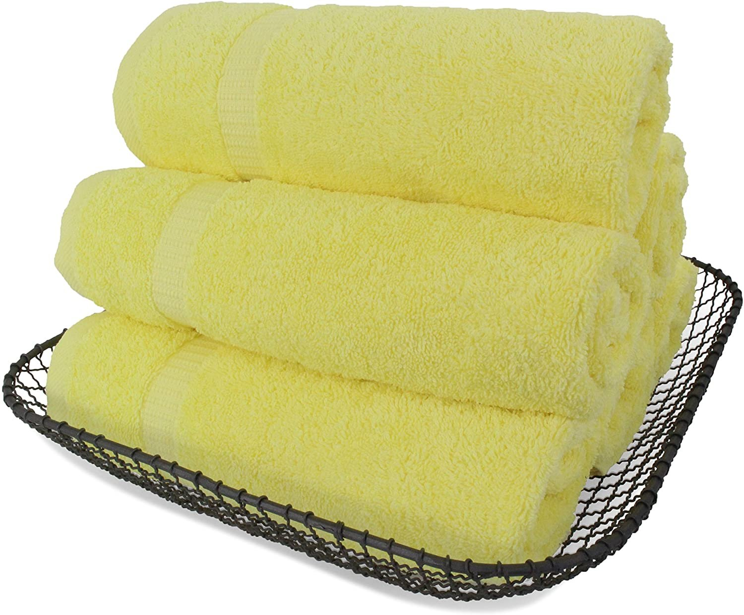 SALBAKOS Luxury Hotel & Spa Turkish Cotton 6-Piece Eco-Friendly Hand Towel Set 16 x 30 Inch, Wine