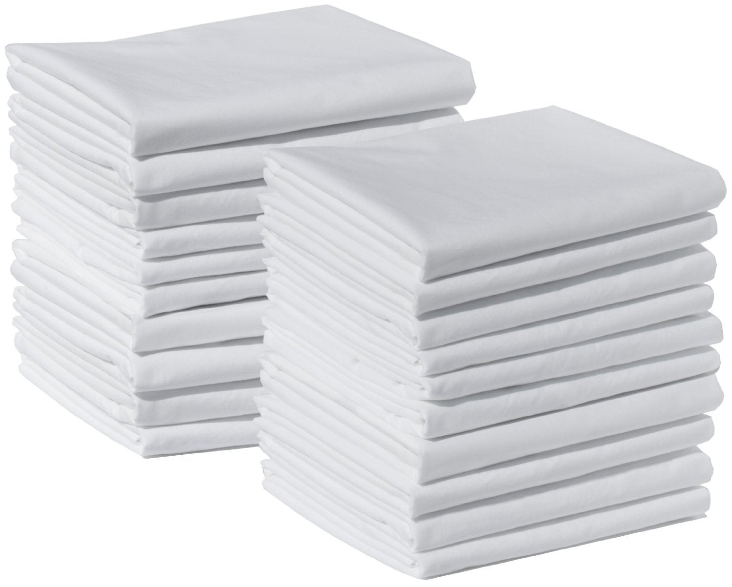 American Pillowcase Brushed Microfiber Standard Size Pillow Case Set, Pack of 140, White