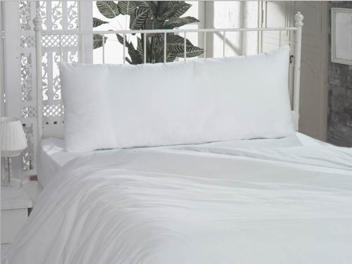 American Pillowcase 2 Body Pillowcase Set, 100% Cotton, 300 Thread Count, 21x60 Pillow Cover, Fits 20 x 54, White