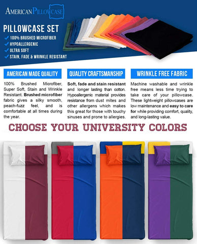 American Pillowcase Microfiber CC 100% Brushed Microfiber