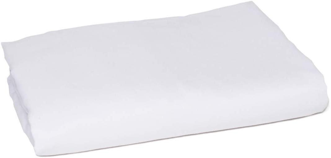 American Pillowcase Flat Sheet, 100% Percale Egyptian Cotton, 400 Thread Count, Queen, White