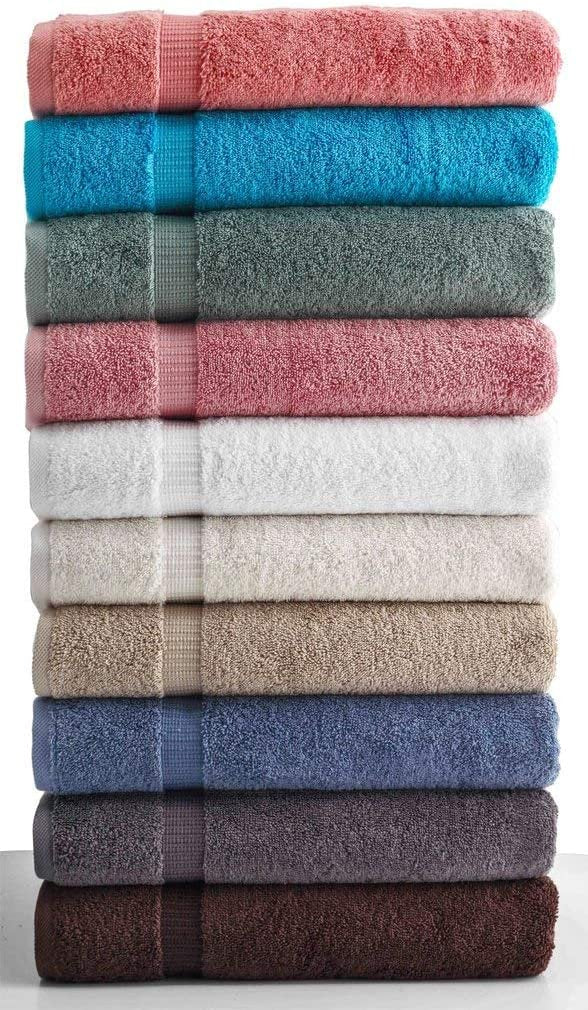 SALBAKOS 6 Piece Bath Towel Set - Turkish Luxury Hotel & Spa Collection - Oeko-TEX Organic - Eco-Friendly Turkish Cotton (Purple)