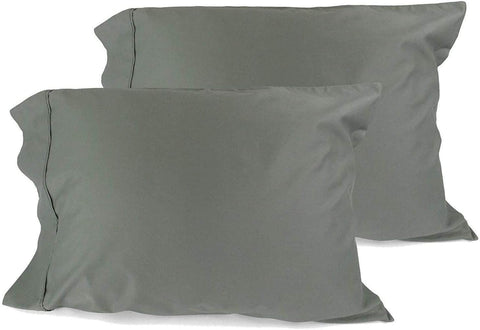Wholesale box of 120 Pillowcases. 100% Cotton, High Thread Count, Luxury Pillow Cases, Z-Style Hem Stitch, Standard 21x30 (fits 20x26 Pillow) - Sage