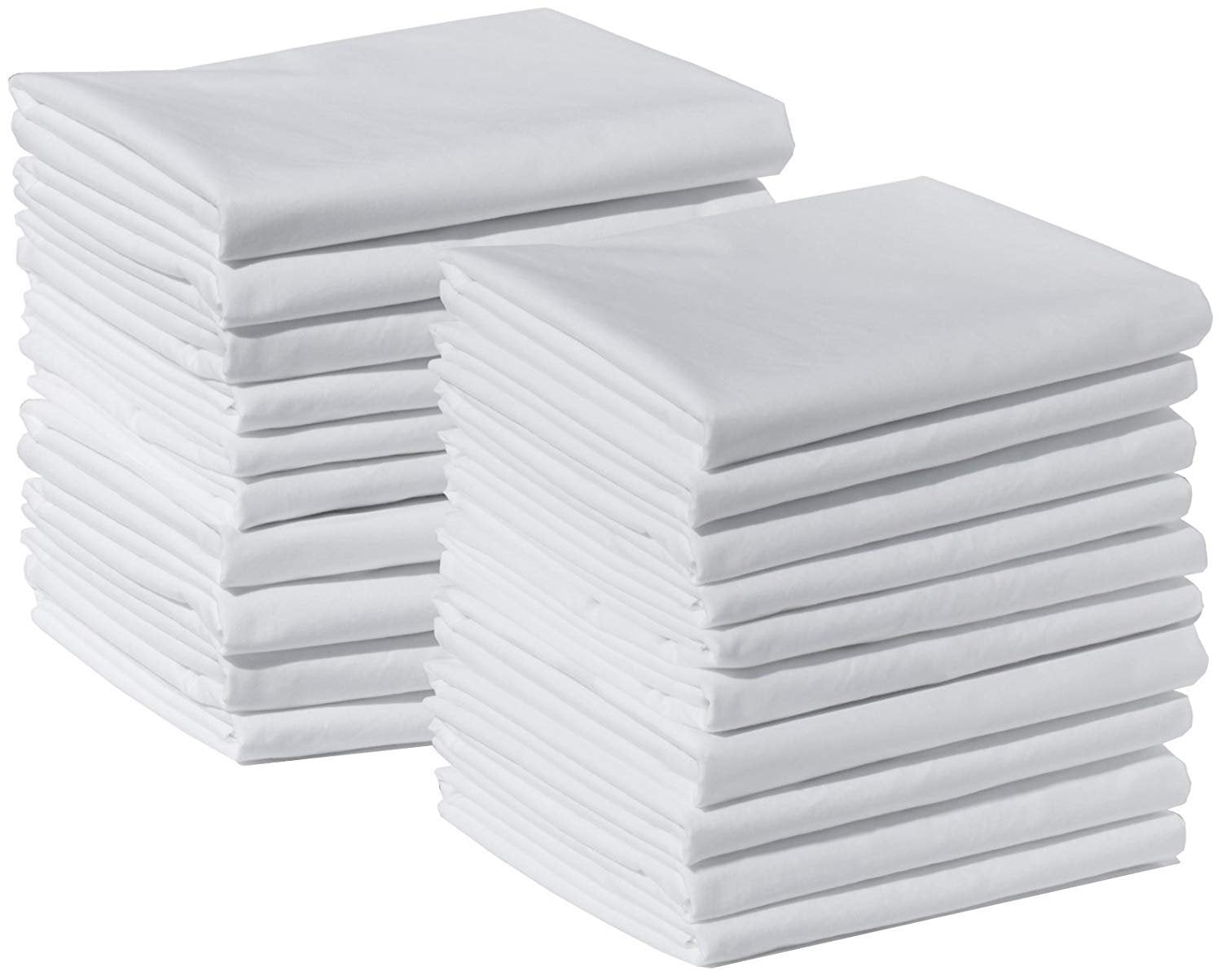 100% Cotton White T220 Percale Wholesale Bulk Pillowcases for Tie-Dying, Silk Screening, Hotels, Crafts, Camps, Parties, Physical Therapy