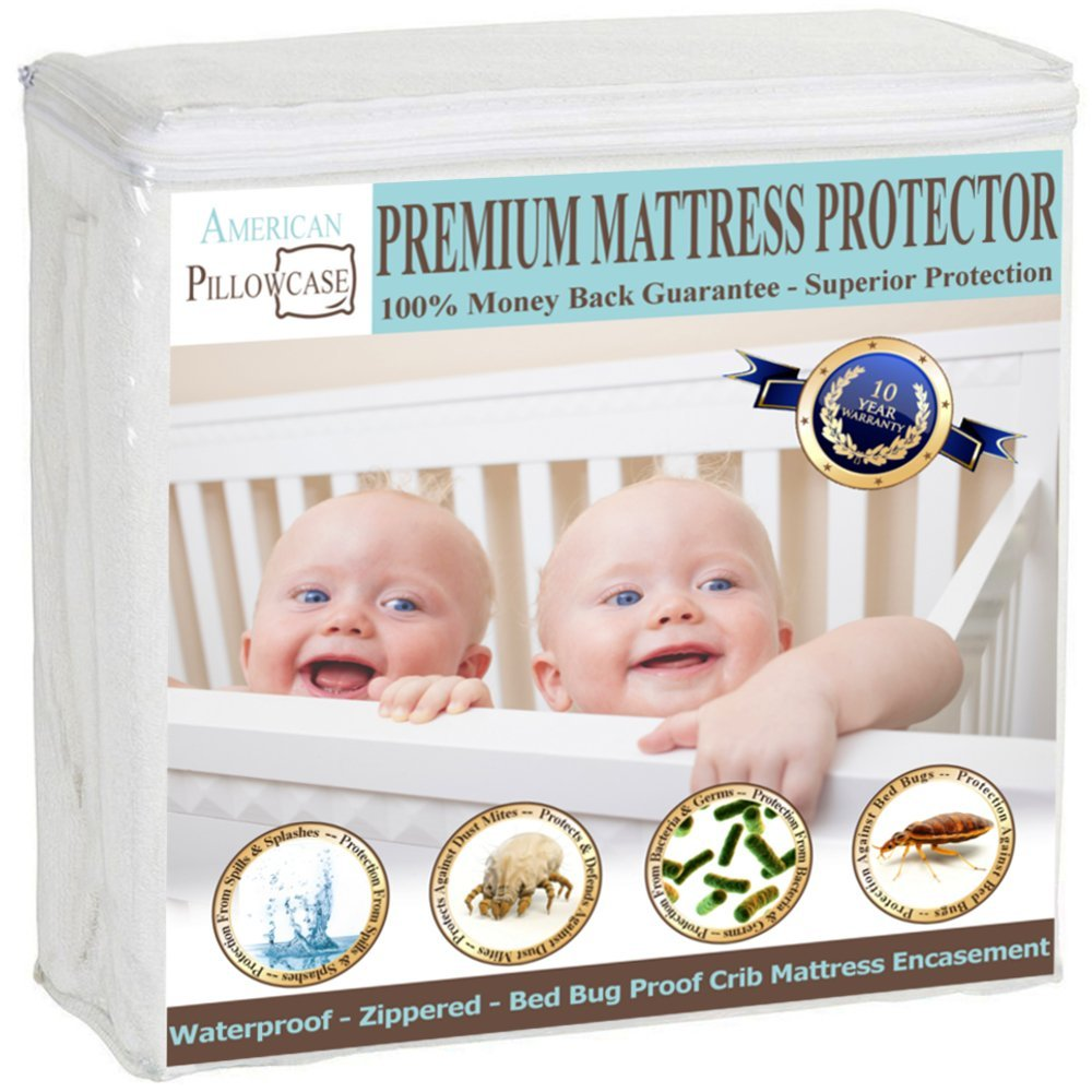 Mattress Encasement - 7 Sizes (Crib, Twin, Twin XL, Full, Queen, King, and California King)