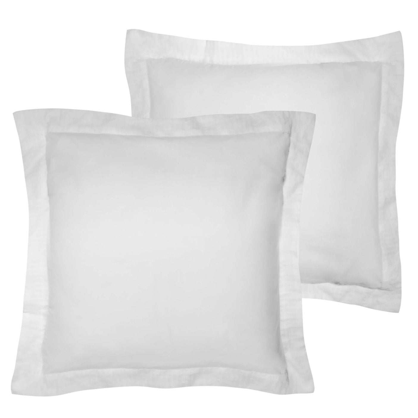 American Pillowcase Euro Shams 26x26 Set of 2 Pillow Covers - Luxury 100% Egyptian Cotton (2 Pack, European 26 x 26, White)