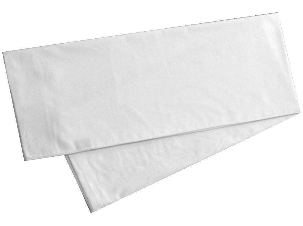 100% Genuine Luxury Egyptian Cotton 400 Thread Count Percale Body Pillowcase fits 20 x 54 Inch Body Pillow, Envelope Closure (Qty. 1 White)