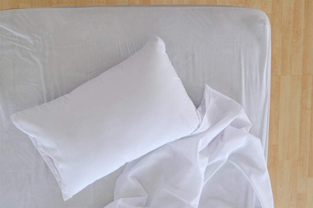 "Polycotton Bulk Pack of 12 King Size Pillowcases, White 200 Thread Count, 21""x40"" White (Fits 20"" X36"" Pillow), 1 Dozen, Perfect for Physical Therapy Clinics, Hotels, Camps …"
