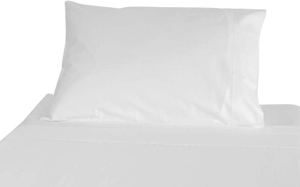 American Pillowcase Twin - Twin XL Flat Sheet Only - 100% Brushed Microfiber - Pieces Sold Separately for Set Guarantee (Ivory)