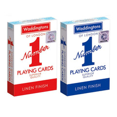 GENUINE WADDINGTONS NO.1 CLASSIC PLAYING CARDS TWIN PACK RED /& BLUE POKER GAME