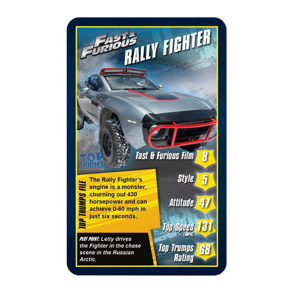 Fast and Furious Top Trumps - Winning Moves UK