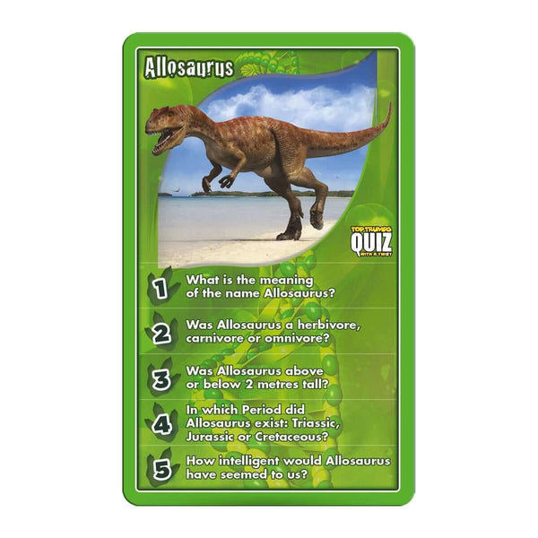 Dinosaurs Top Trumps Quiz Game - Winning Moves UK