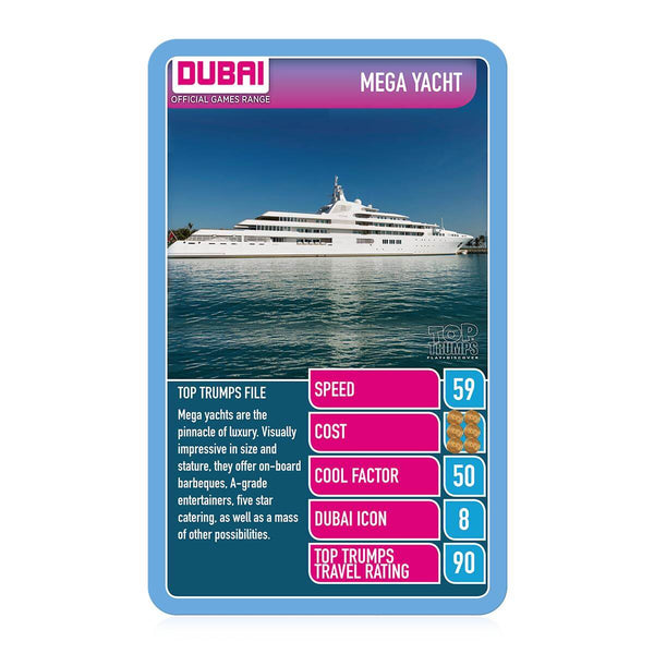 Dubai Cars Camels and Cool Transport Top Trumps Card Game