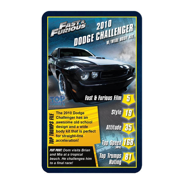 Fast and Furious Top Trumps Card Game - Winning Moves UK