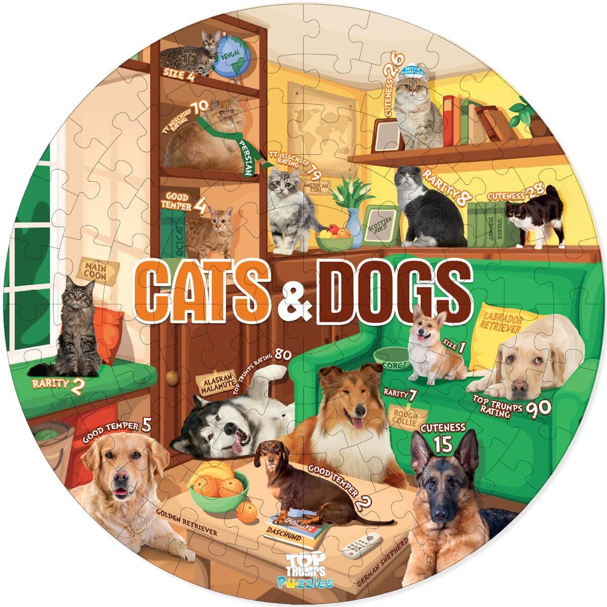 Cats and Dogs 100 Piece Jigsaw Puzzle