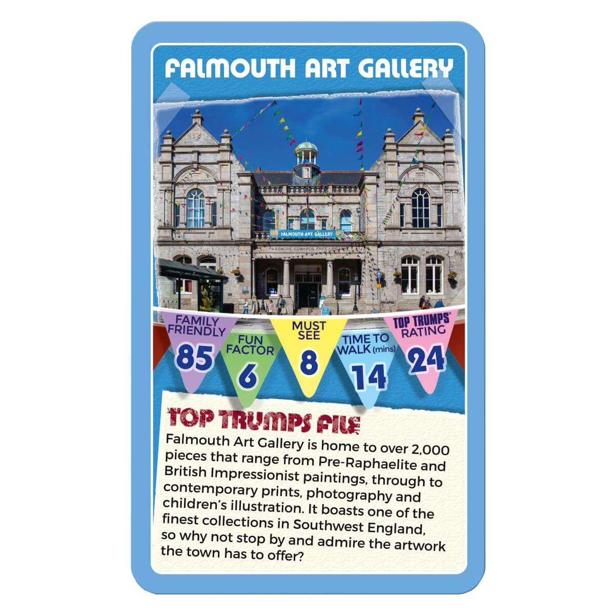 Top Trumps Rules >> Falmouth 30 Things To See Top Trumps Card Game Winning
