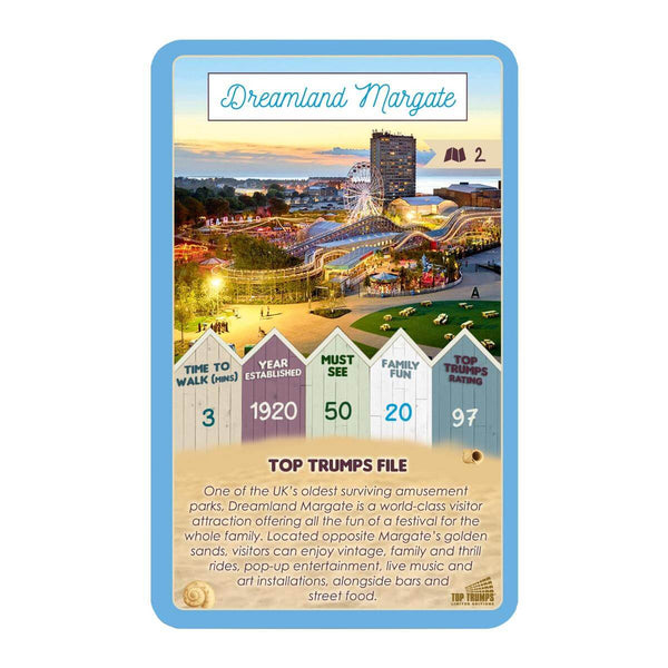 Margate 30 Things to See Top Trumps Card Game - Winning Moves UK