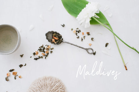 The Green Oolong tea in our Maldives blend