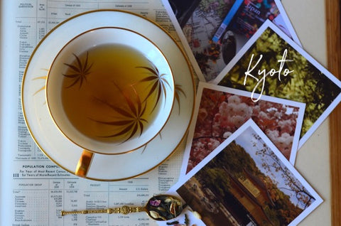Kyoto Tea- a looseleaf sencha tea featuring yuzu and jasmine flowers
