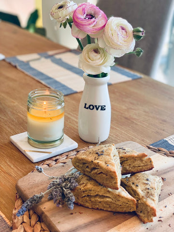Provence with Love - lavender and earl grey glazed scones from The Tea Nomad