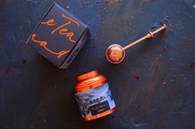 Load image into Gallery viewer, Sahara tea canister and copper tea infuser. Luxury tea gifts from The Tea Nomad
