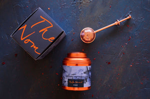 Iced Tea Canister Duo and Tea Infuser gift set- Sydney and Maldives tea canisters and copper tea infuser.
