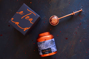 Shanghai Tea Canister and Copper tea infuser. Luxury tea gifts from The Tea Nomad