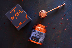 Provence tea canister and copper tea infuser. Luxury tea gifts from The Tea Nomad