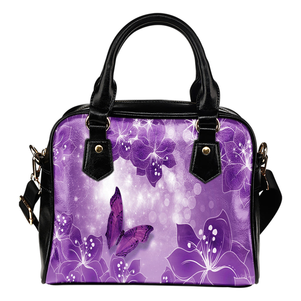 Beautiful Rose Shoulder Handbag