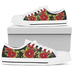 Red Rose Low Top Shoe
