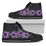 Purple Floral High Top Shoe