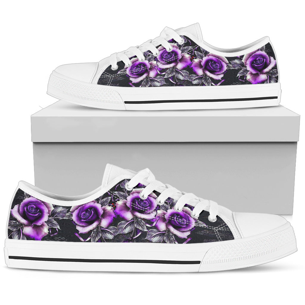 Purple Floral Top Shoe
