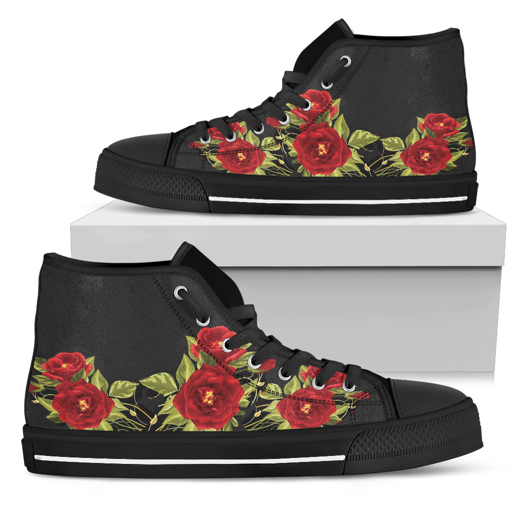 Red Rose High Top Shoe