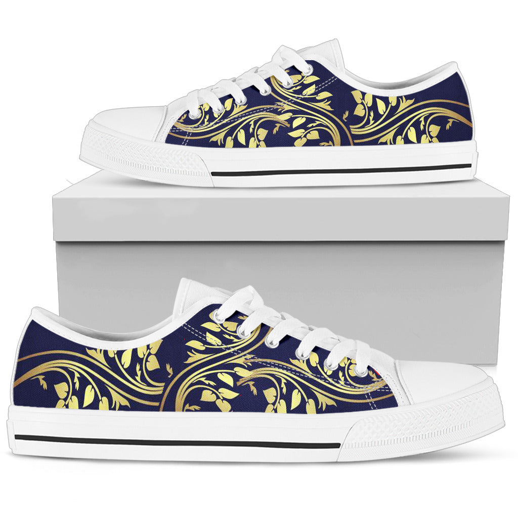Golden Floral Top Shoe