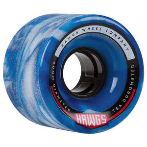 HAWGS Chubby Hawgs Blue White Swirl Stoneground 60mm 78a CRUISER WHEELS