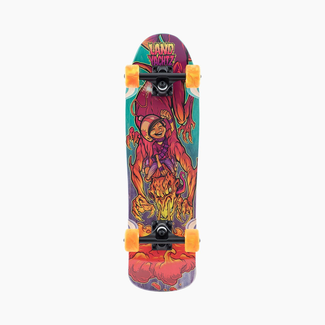 Landyachtz Bottle Rocket Dragon Surfer Cruiser Complete Skateboard