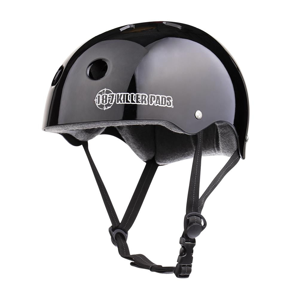 187 PRO SKATE SWEAT SAVER LINER GLOSSY BLACK MD HELMET