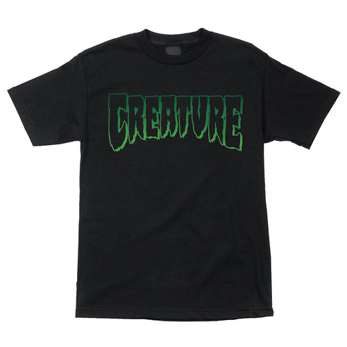 Creature Logo Outline Black S/S T-Shirt